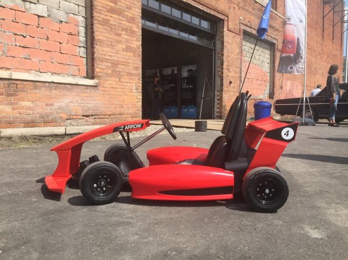 The Actev Arrow Smart-Kart, after my joy ride in Detroit.
